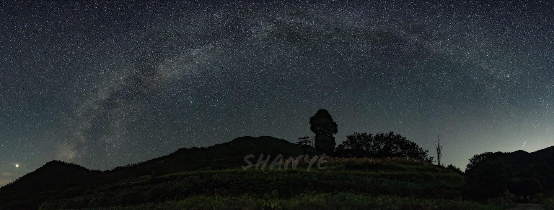 夏の天の川逆アーチ,星空,浙江省,杭州,建徳