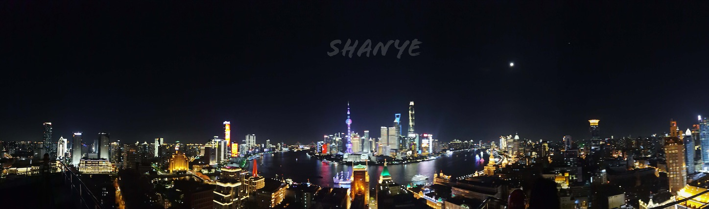 上海の夜景パノラマ