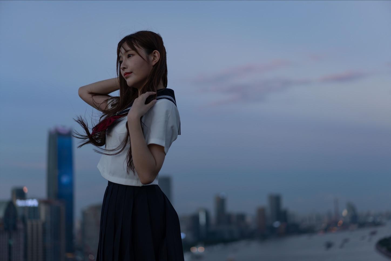 上海外灘ポートレートセーラー服