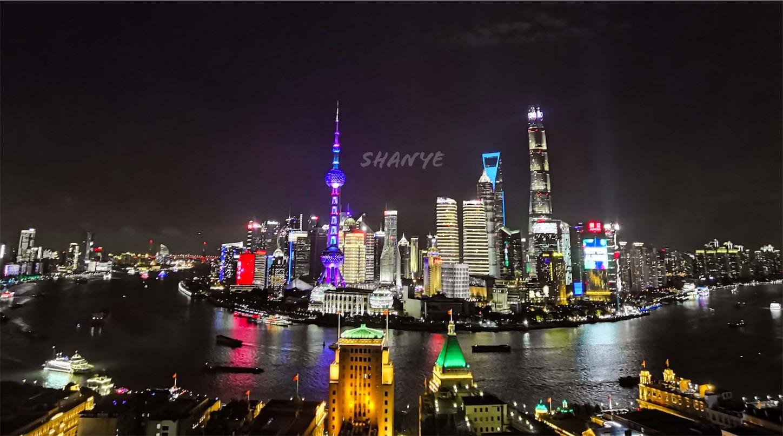 上海の夜景,上海申華金融ビルの屋上