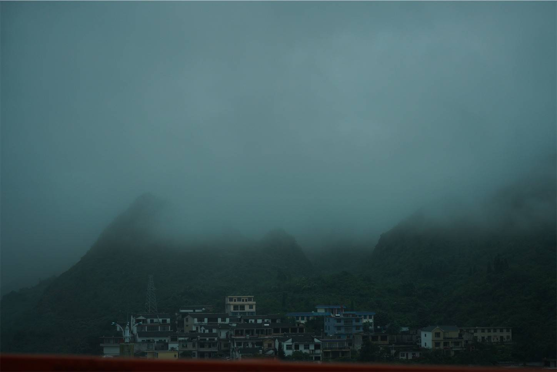 貴州省旅行5日間,安順から興義までのバスの車窓から2