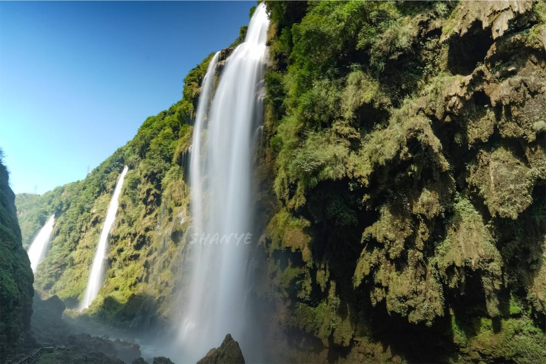 馬嶺河峡谷の滝