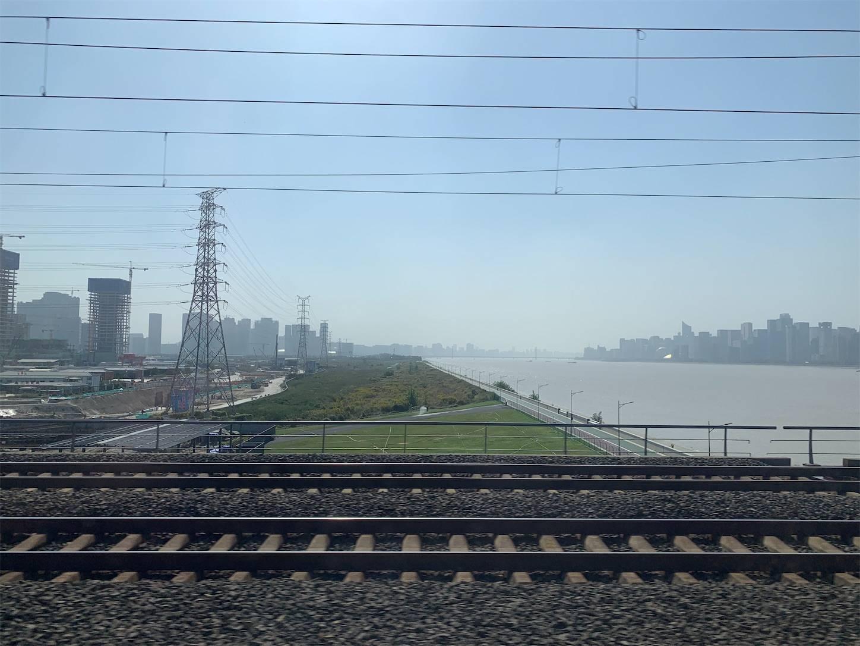 高速鉄道の車窓から2,上海から浙江省杭州建徳へ