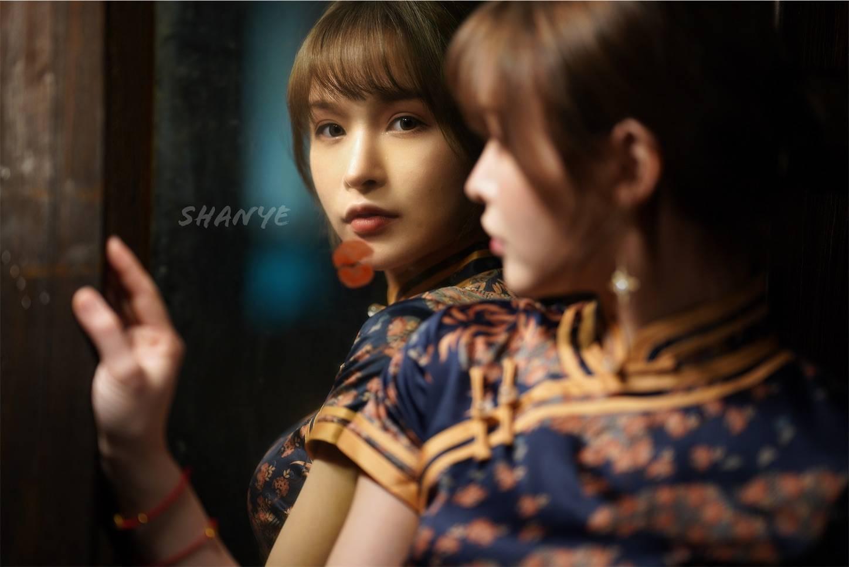 上海,チャイナドレス,旗袍,ポートレート,美女,SIGMA85mmDGDN