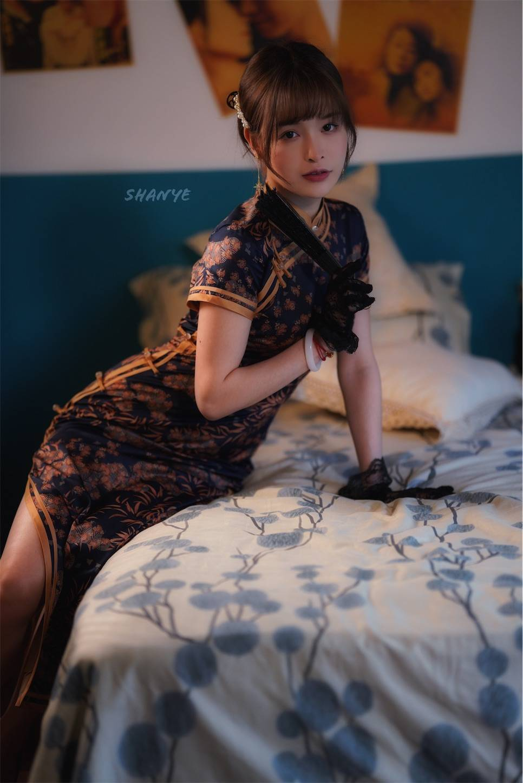 上海,チャイナドレス,旗袍,ポートレート,美女モデル,スリット