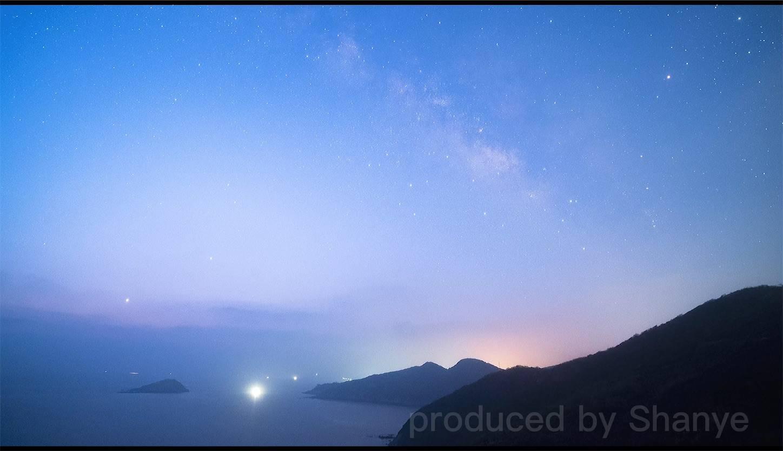 夜明け前の天の川,FE20mmF1.8G