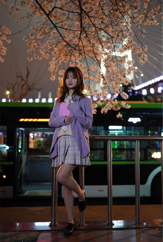 上海南浦大橋,夜桜JK,FE35mmGM,ポートレート撮影