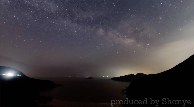 4Kタイムラプス動画から取得した天の川