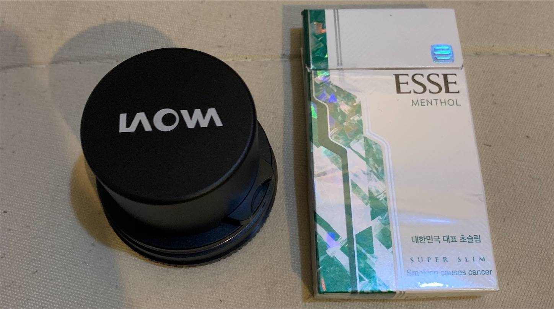 LAOWA4mmF2.8円周魚眼,サイズ感