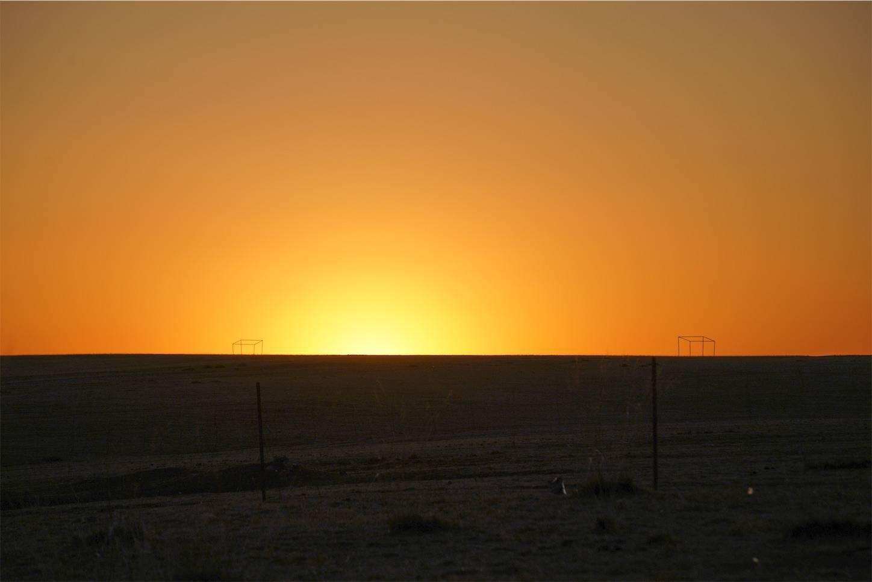 内モンゴルシラムレン草原の夕日2
