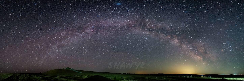 内モンゴル草原の天の川,α7S2,20mmG×12枚
