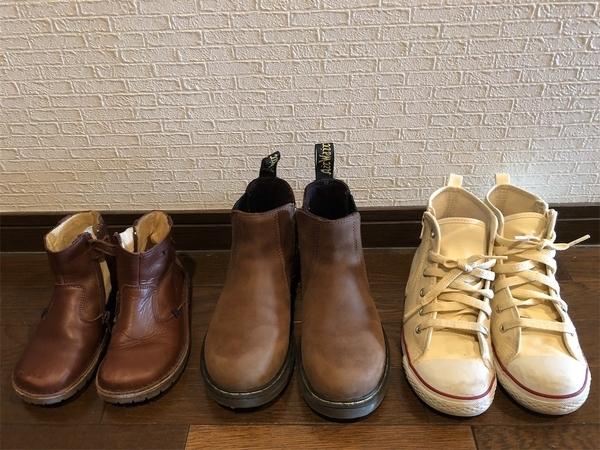 小学生の長女(7歳)幼稚園の次女(4歳)の今履いている靴