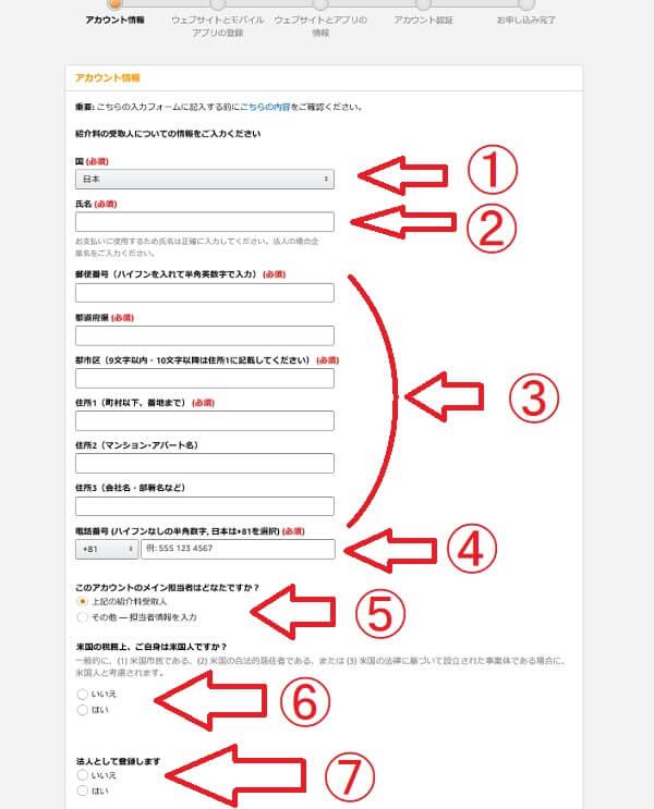 Amazonアソシエイト登録方法1
