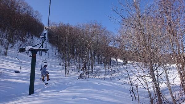 だいくらスキー場のシングルリフト