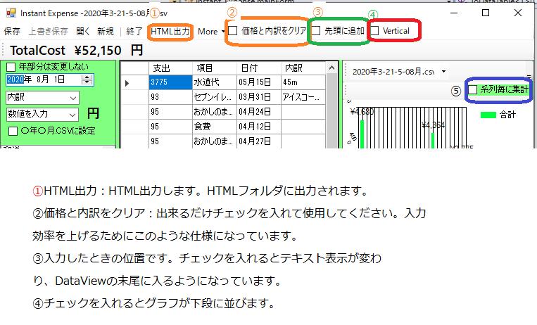 インスタント家計簿マニュアル