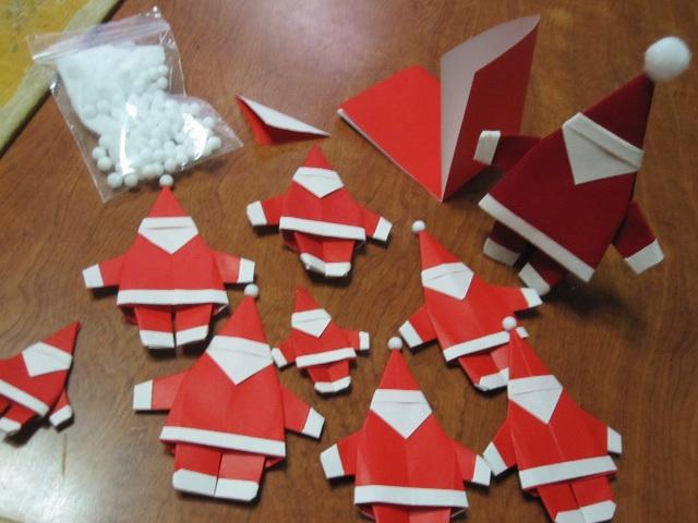 クリスマス 折り紙 サンタ 折り紙 : hagifood.com