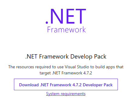 .NET Framework Developer Pack または再頒布可能 …