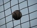 [中日ドラゴンズ]060924明治神宮野球場・立浪が練習中にはめ込んだボール