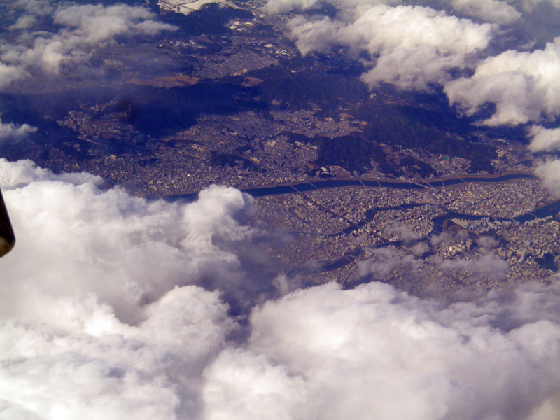 広島市上空