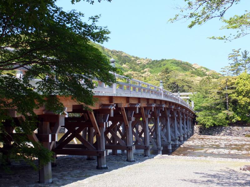 五十鈴川にかかる宇治橋