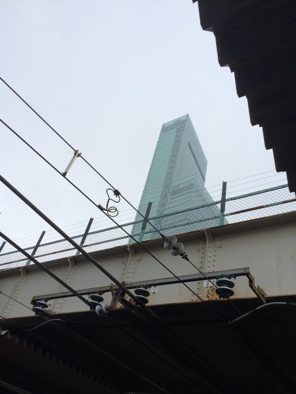 天王寺駅のホームから