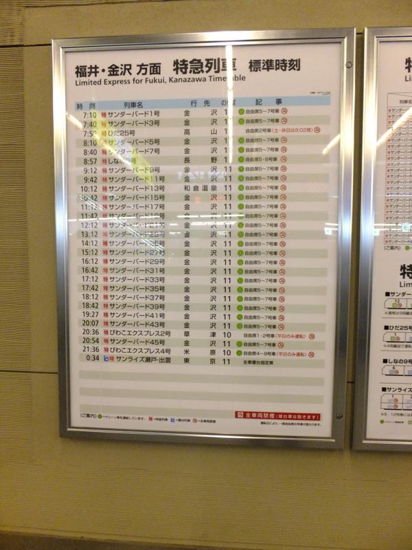 大阪駅11番線を発車する特急サンダーバードのほとんどが金沢行き