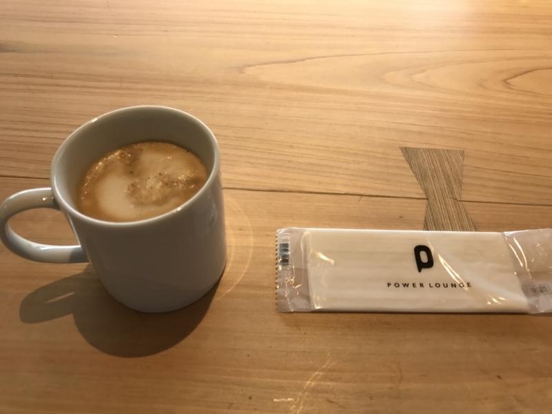 コーヒーとおしぼり