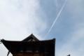 金堂から飛び立つ雲(法隆寺)
