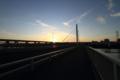[荒川・清砂大橋]朝陽を迎える