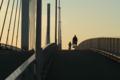 [荒川・清砂大橋]朝焼けにペダルこいで