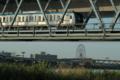 [荒川・清砂大橋]東西線、日曜日の都心に向かって