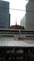 [twitter] 東京駅、八重洲側にある東海道線ホームから、丸の内側を見上げてみ
