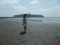 後ろは江ノ島!