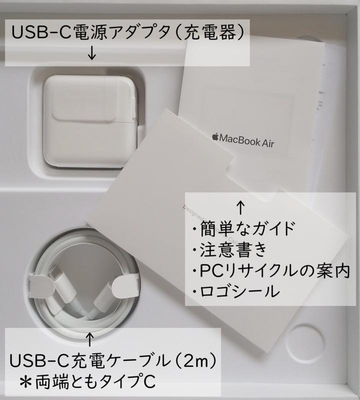 Mac book Air 付属品の画像
