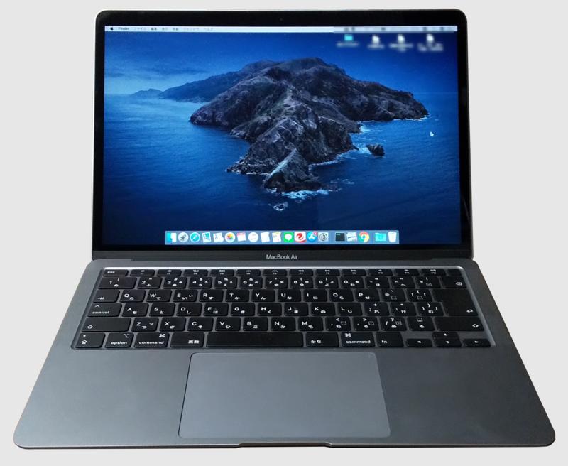 mac book air 2020 本体の画像