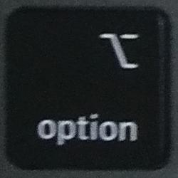 optionキーの画像