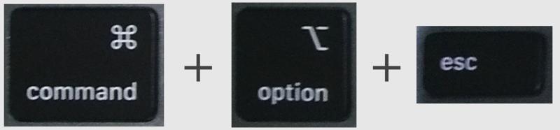 mac 強制終了のショートカットキー