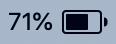 Mac バッテリー表示画像