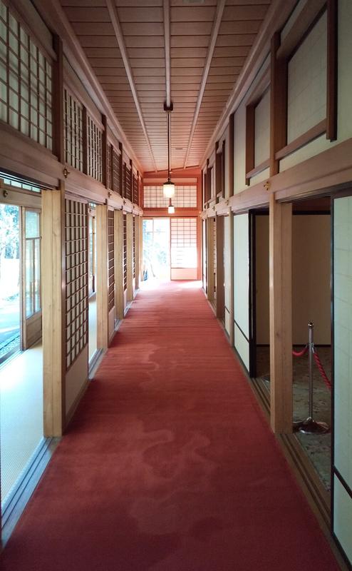 日光田母沢御用邸記念公園 廊下の画像