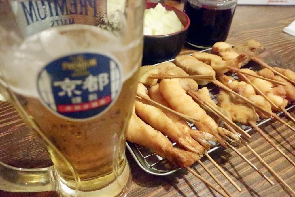 串揚げと串カツとビール