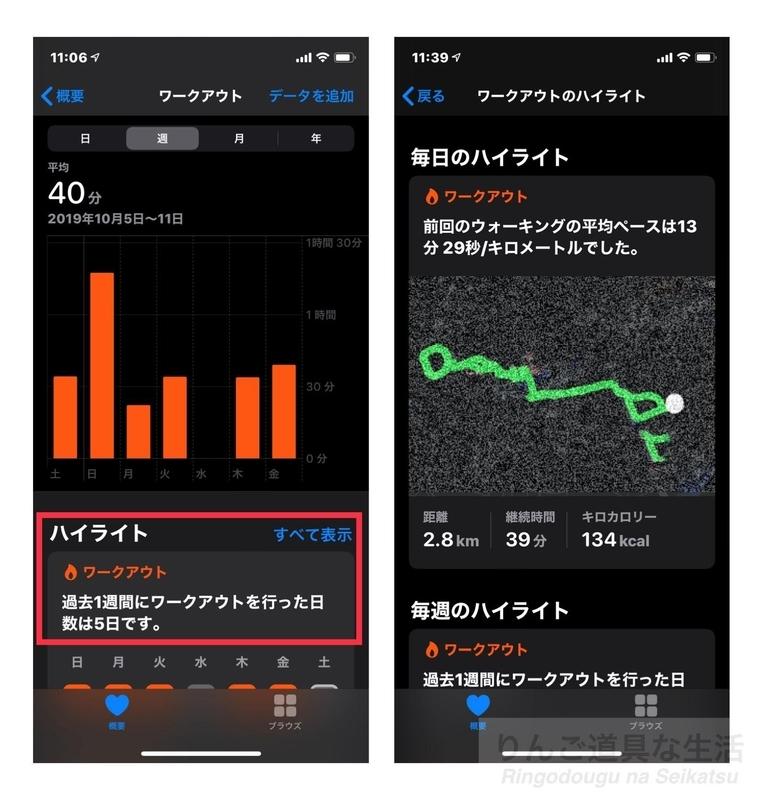 iOS13のヘルスケアアプリ