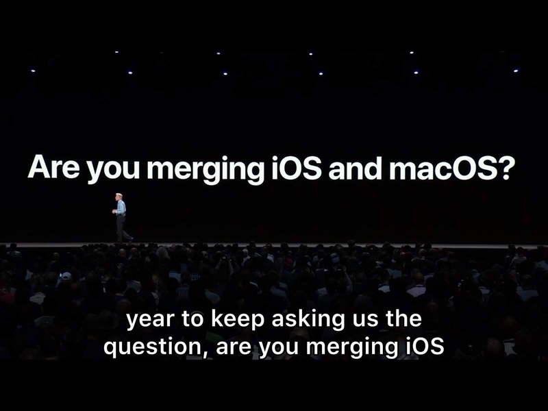 WWDC18 keynote speech