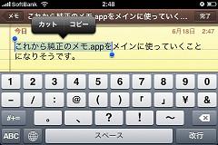 iPhoneOS3.0コピー&ペースト1