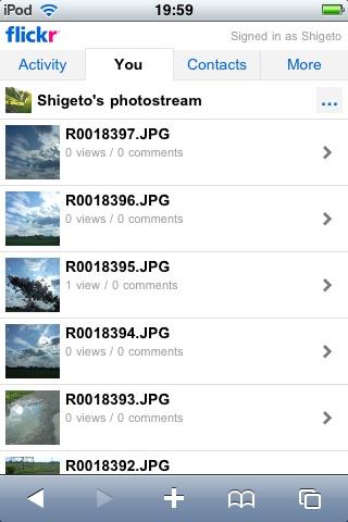 iPhoneOS対応Flickrサイト1