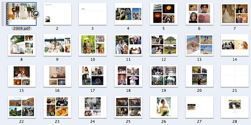 iPhoto2009年ダイジェストアルバム