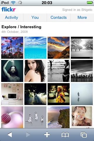 iPhoneOS対応Flickrサイト3