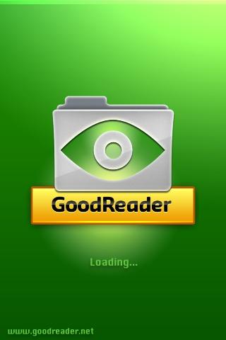 GoodReader起動画面