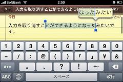 iPhoneOS3.0コピー&ペースト2