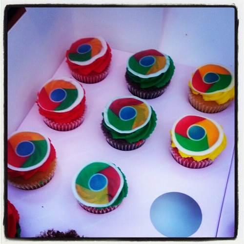 Chromeのケーキ画像