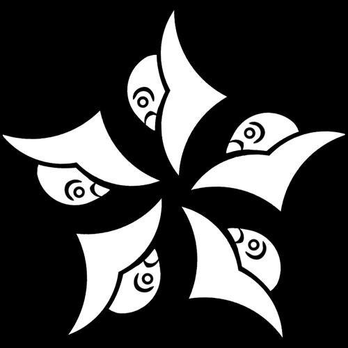 八つ雁金車の紋